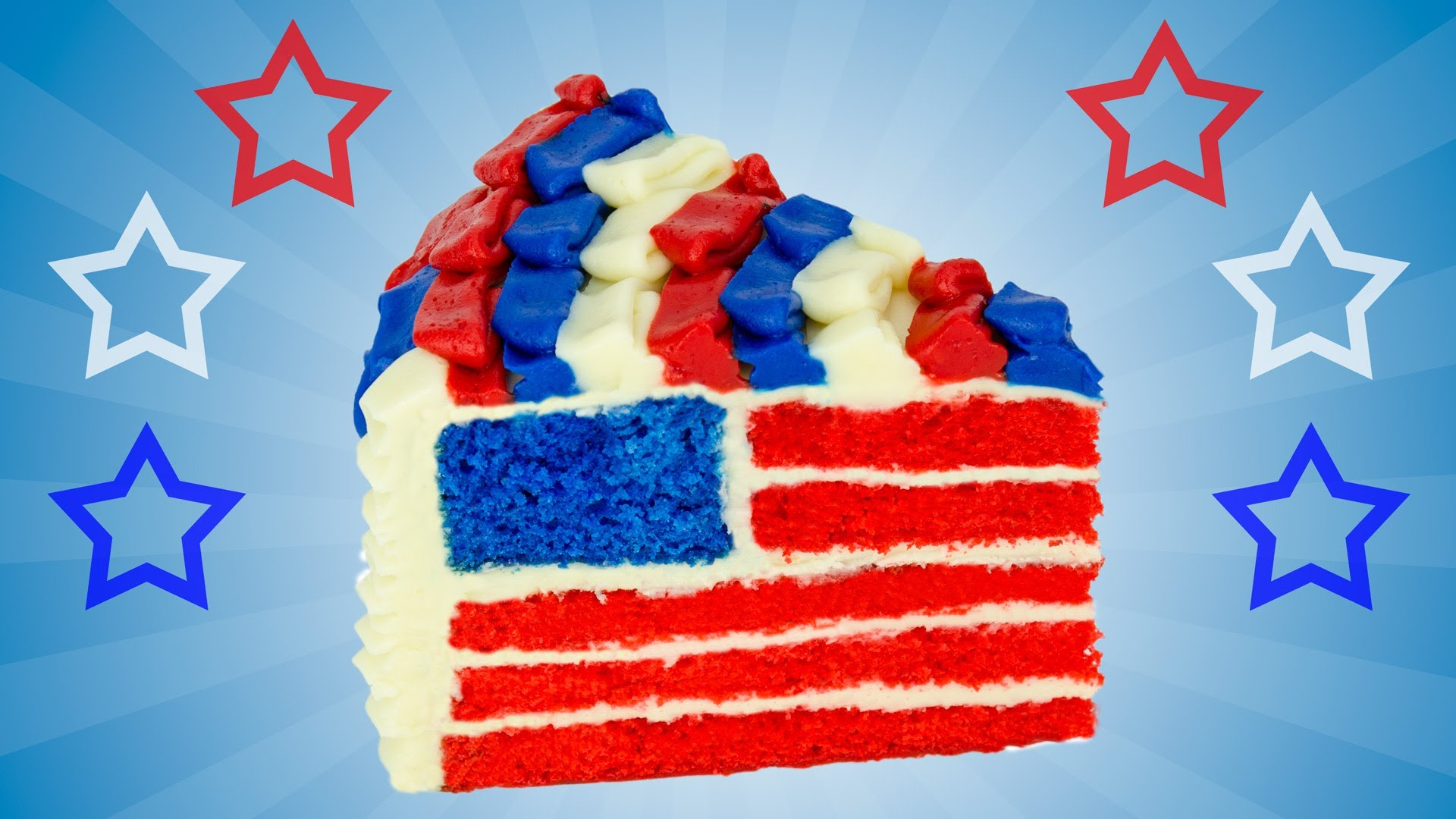 Wait until you see the inside of this 4th of july cake for American flag cake decoration