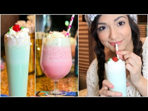 Make Shamrock Shake And Cotton Candy Frap At Home In Just 6 Minutes! Goodbye Starbucks!