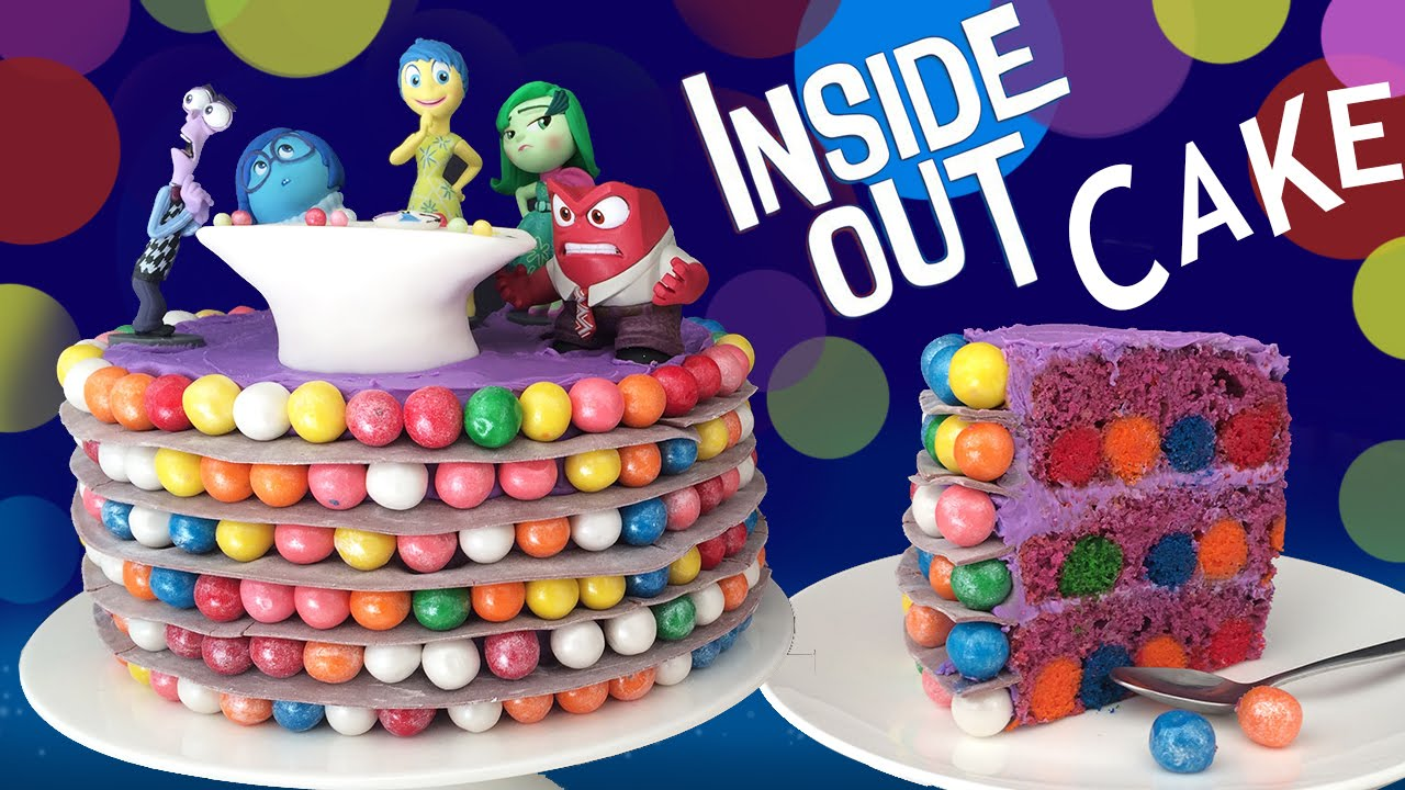 "The Best Part Of This ""Inside Out"" Movie Inspired Cake Is The Inside And Out"