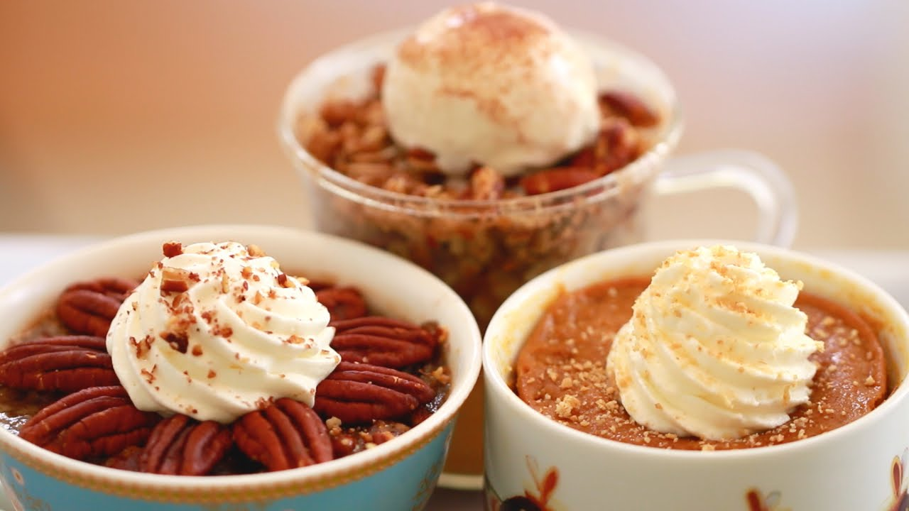 3 of Your Favorite Pies – All Made Inside a Mug With Just Your Microwave! YUMMY