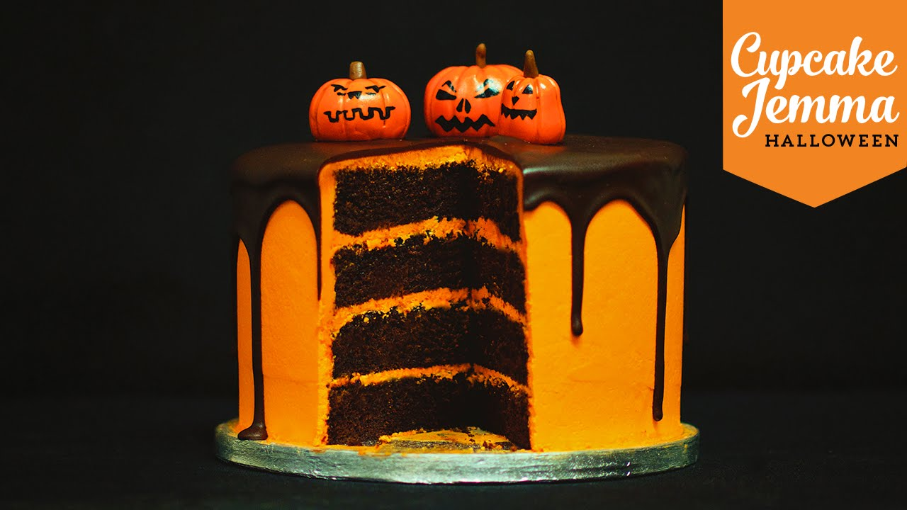 A Delicious Chocolate Orange Layer Cake With A Halloween Surprise