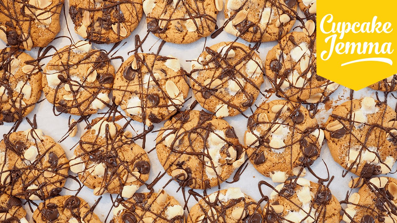 Find Out How These Peanut Butter Rocky Road Cookies Got Their Name