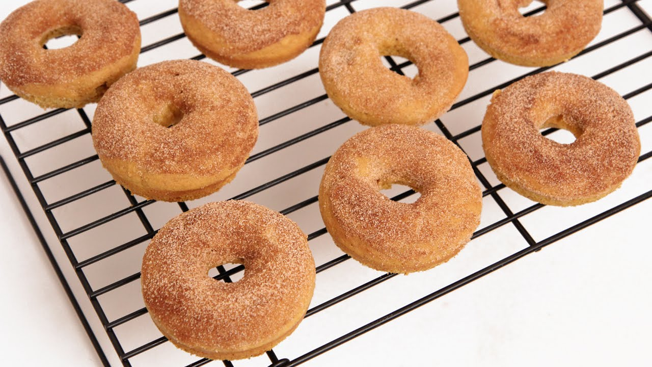 I Can Not Believe These Pumpkin Donuts Are Baked And Not Fried!