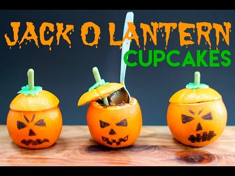 Mini Jack-O-Laterns Filled With Chocolate Cupcakes!?! RECIPE