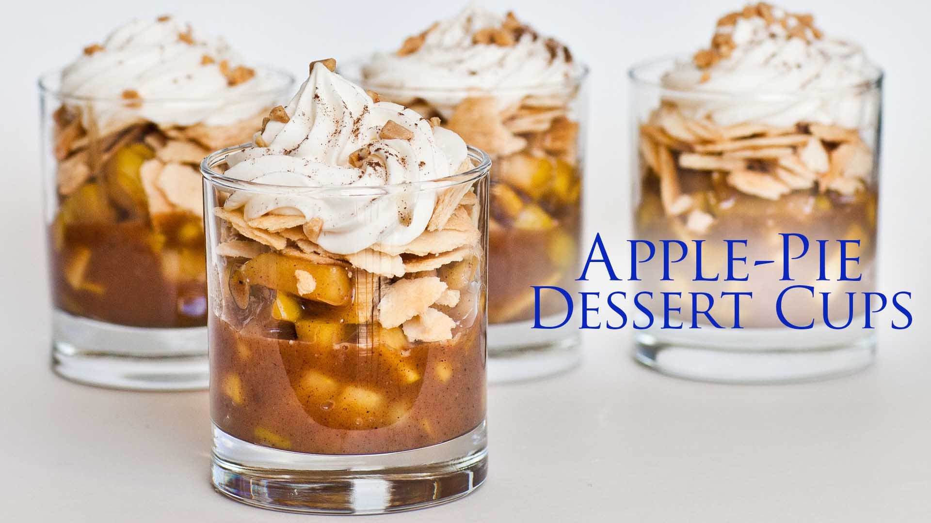 Such A Unique Way To Deconstruct A Traditional Apple Pie With These Apple Pie Dessert Cups