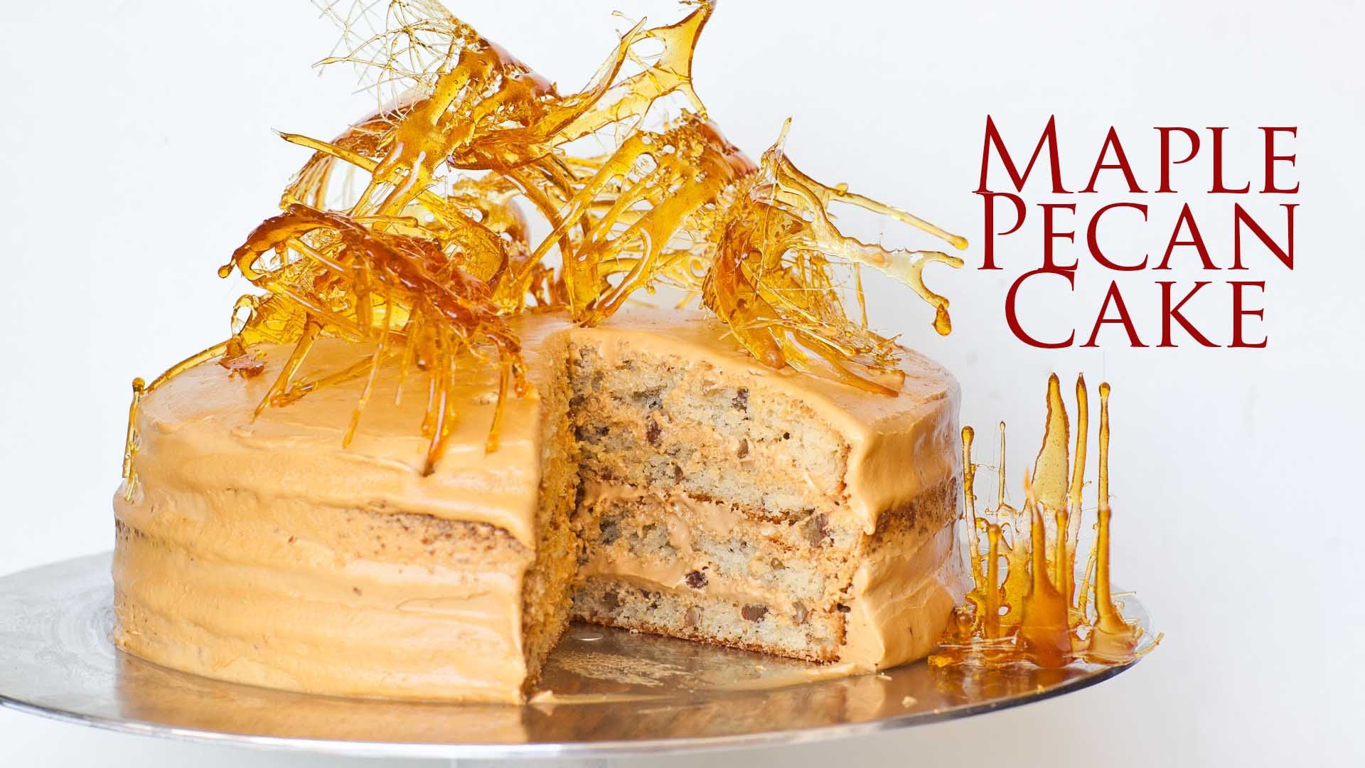 This Maple Pecan Cake With Salted Caramel Frosting Is Not Only Delicious But Super Elegant