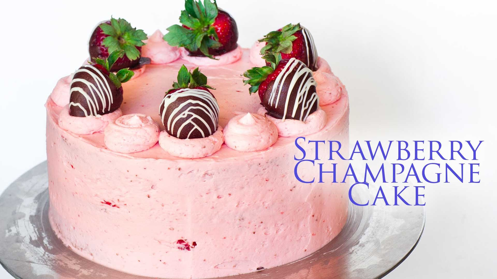 What 2 Incredible Ingredients Make This Strawberry Champagne Cake Irresistible?