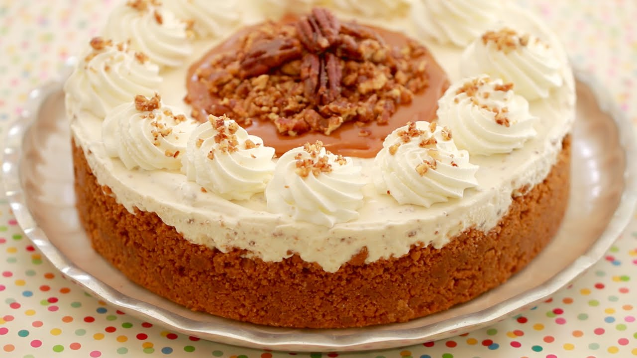 You Will Love What She Puts In The Middle Of This Butter Pecan Ice Cream Cake