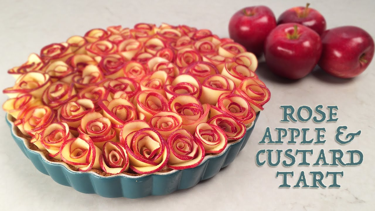 This Stunning Rose Apple Custard Tart Has An Interesting Surprise