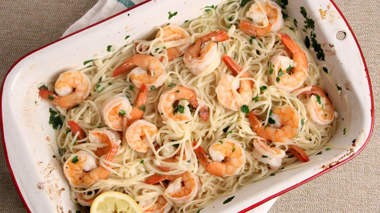 Oven Roasted Shrimp Scampi In Less Than 30 Minutes