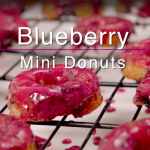 The Glaze On These Blueberry Mini Donuts Has Me Drooling