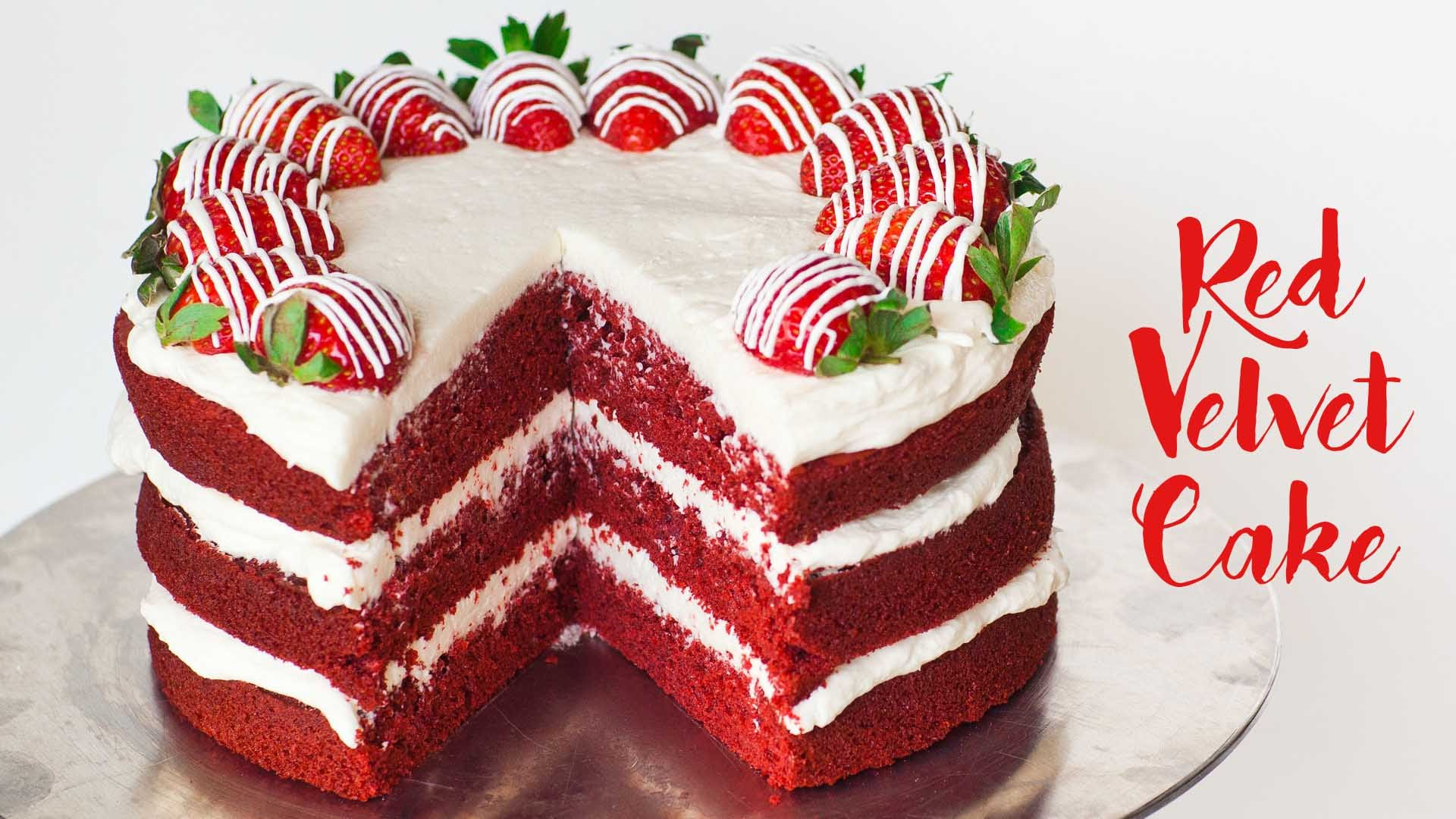 A Red Velvet Cake That Will Absolutely Have Your Mouth Watering