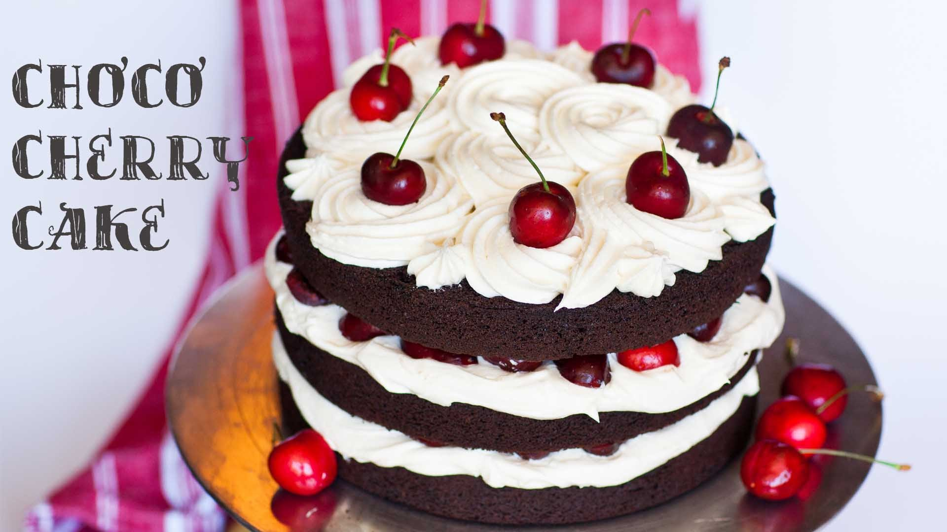 A Chocolate Cherry Cake With An Amazing Frosting