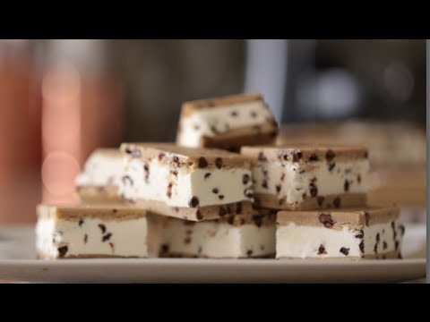He Puts A Delicious Twist On A Homemade Chocolate Chip Ice Cream Sandwich