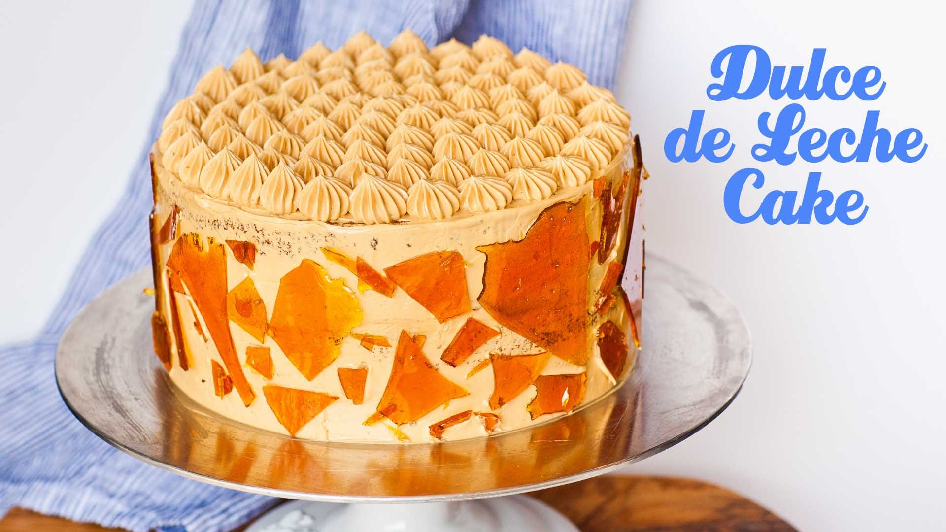 She Makes This Dulce de Leche Cake Into A Work Of Art