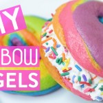 WOW Your Friends With These Homemade Rainbow Bagels