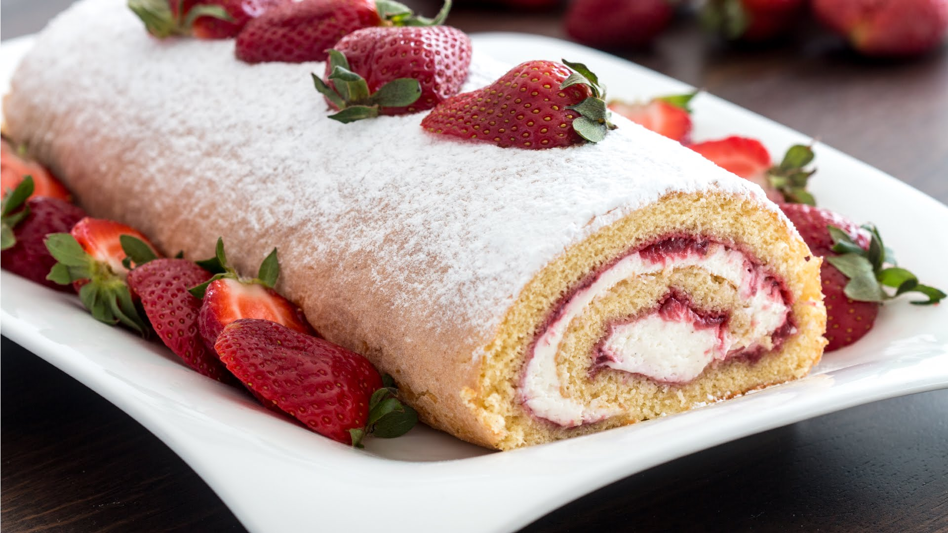 Strawberry Jam Is Not The Only Filling She Adds To This Strawberry Swiss Roll