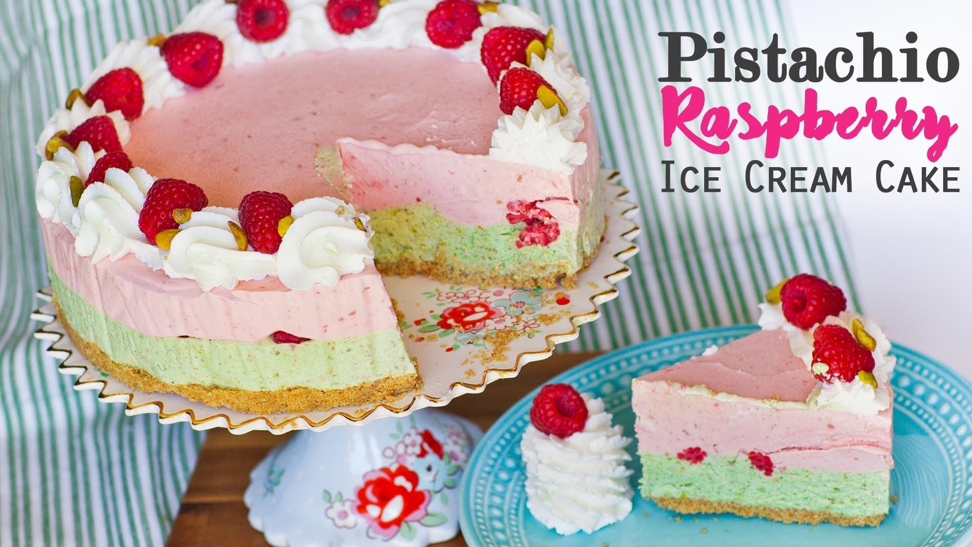 Make A Pistachio Raspberry Ice Cream Cake With No Machine