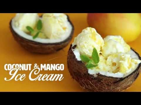 No Need For An Ice-Cream Machine For This Coconut And Mango Ice-Cream
