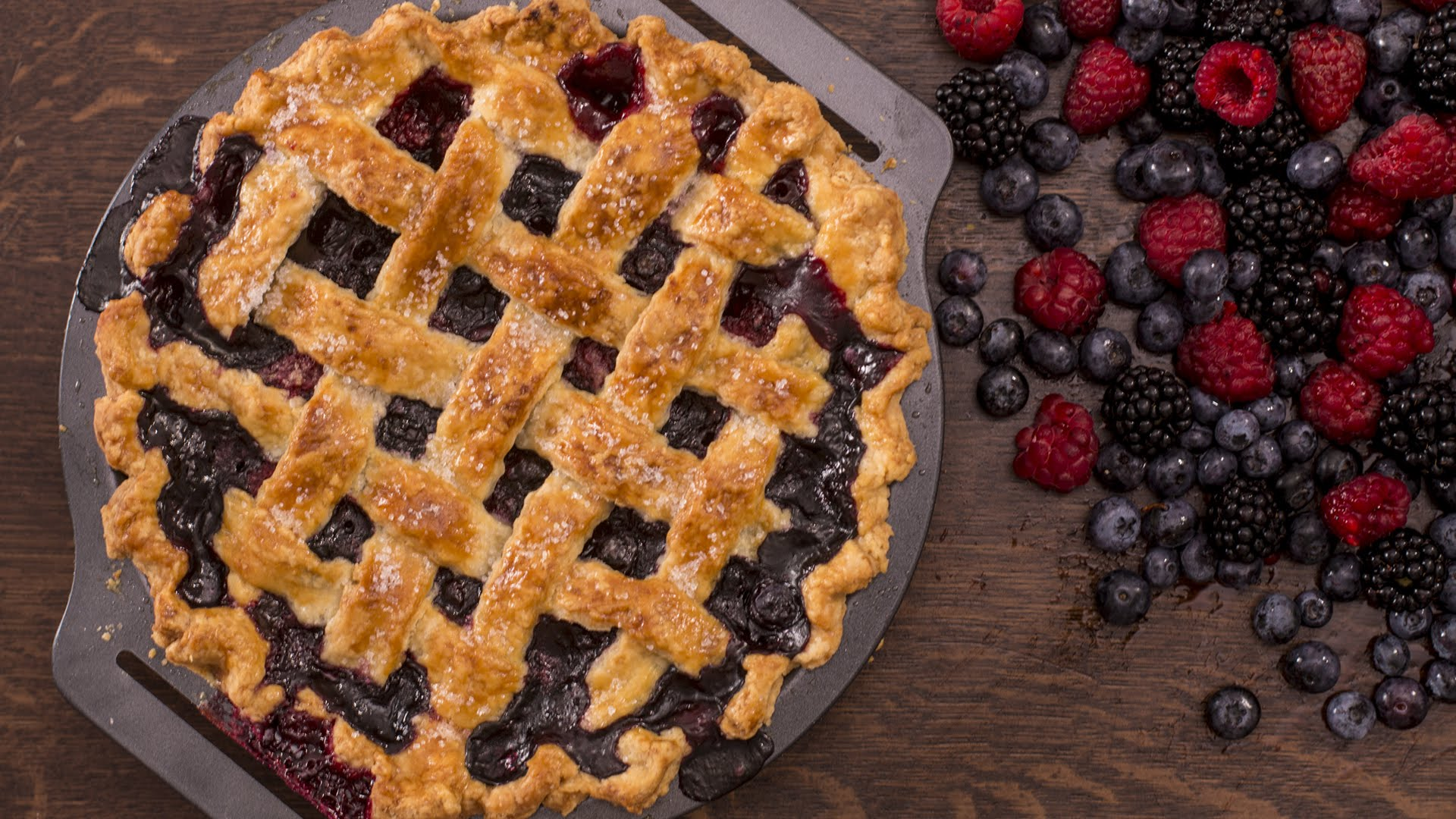 She Combines So Many Different Berries To Make This Incredible Berry Pie