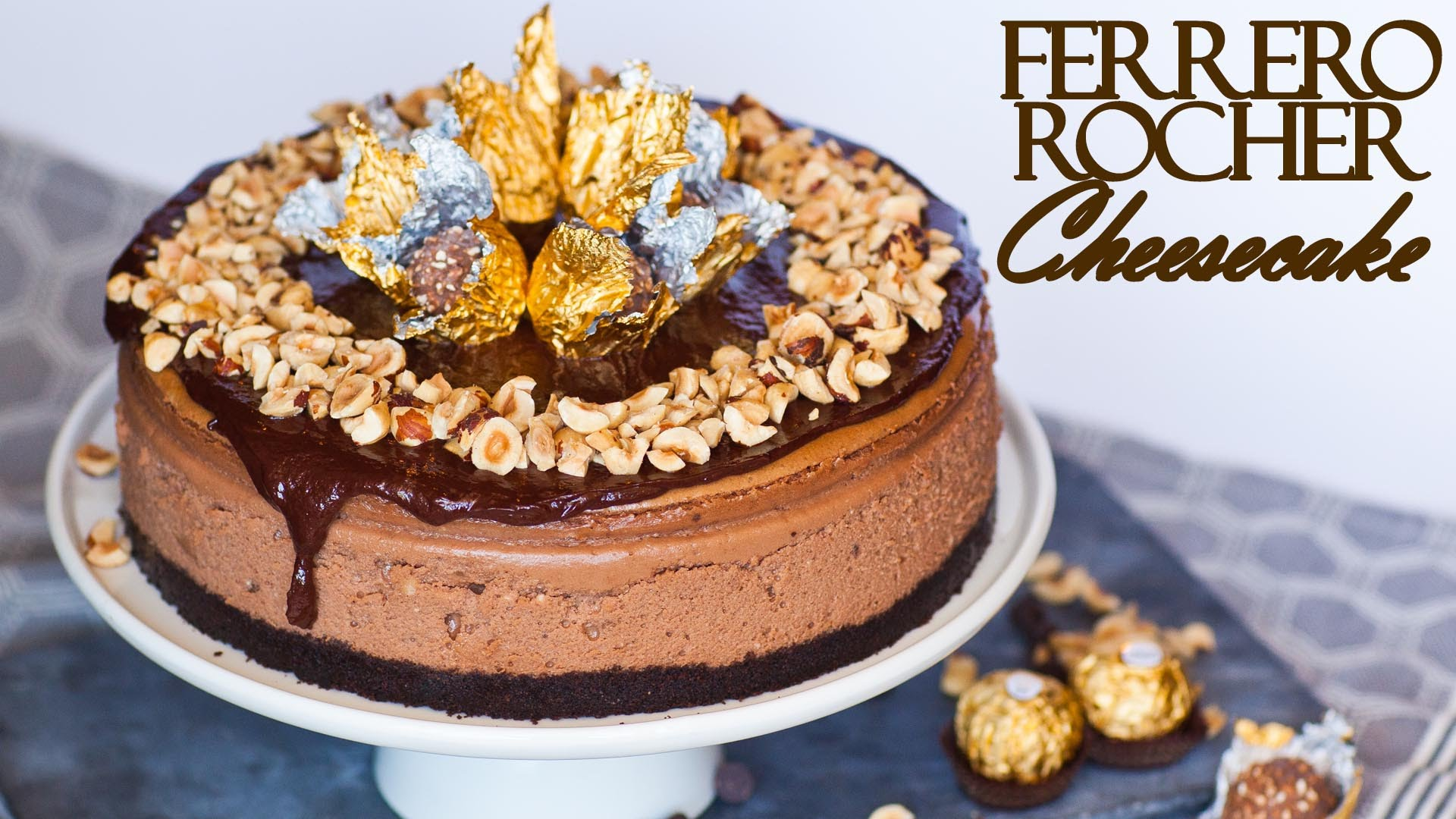 She Makes A Beautiful And Delicious Ferrero Rocher Cheesecake