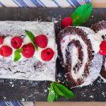 She Transforms A Chocolate Sponge Cake Into A Divine Chocolate Raspberry Swiss Roll