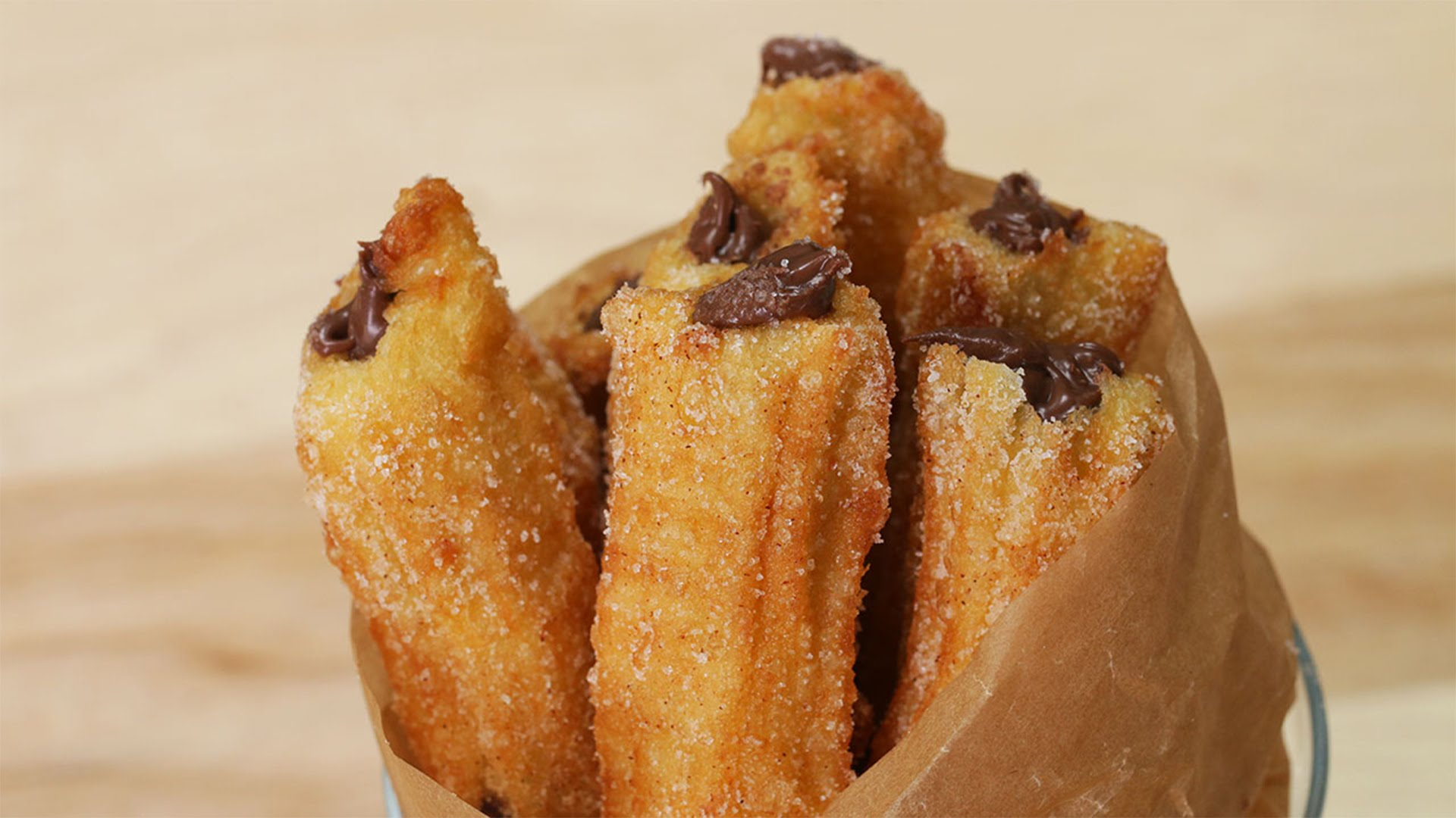 The Easiest Way To Make Chocolate Hazelnut Churros