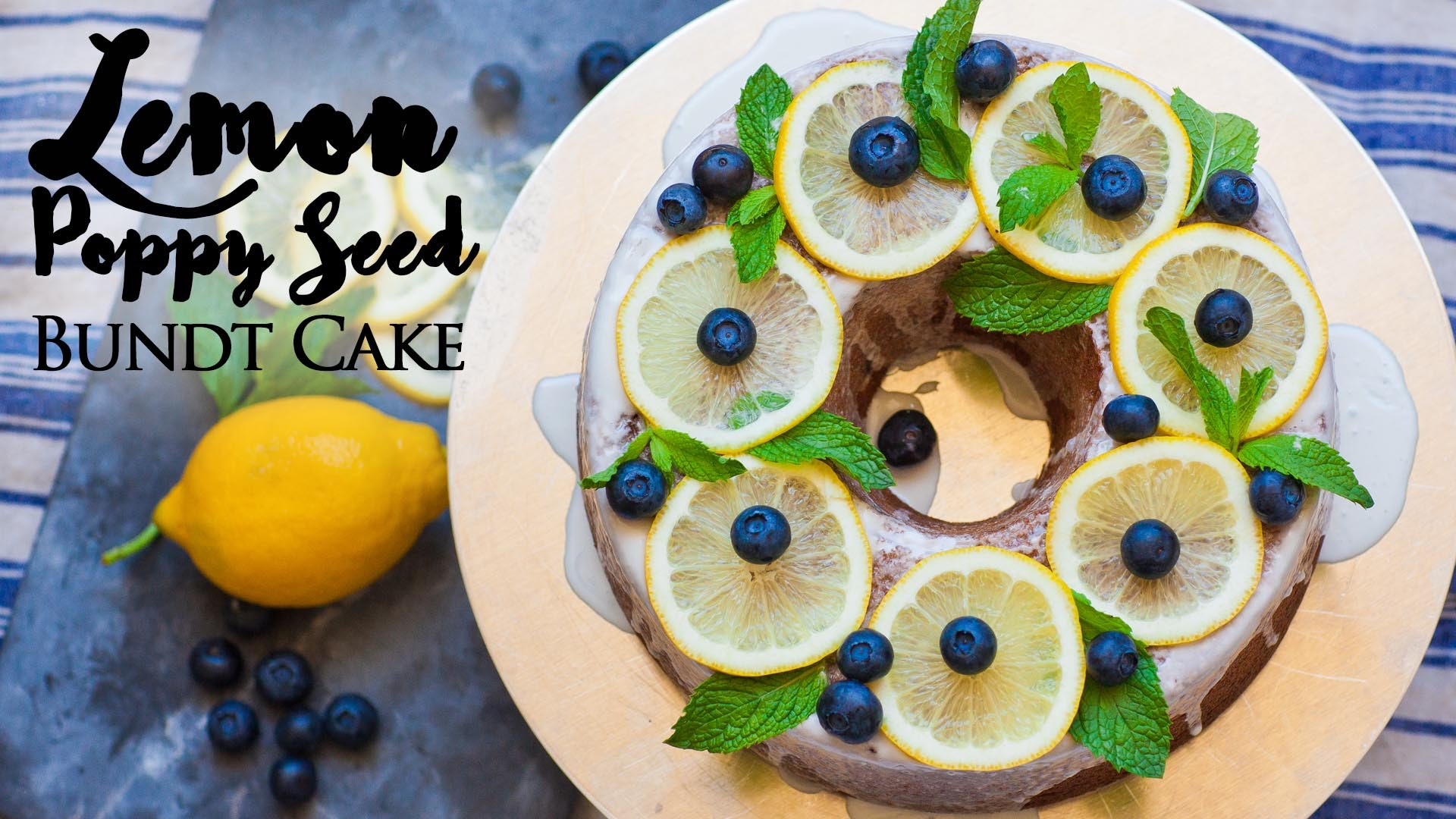 This Lemon Poppy Seed Bundt Cake Is Simplicity At Its Best