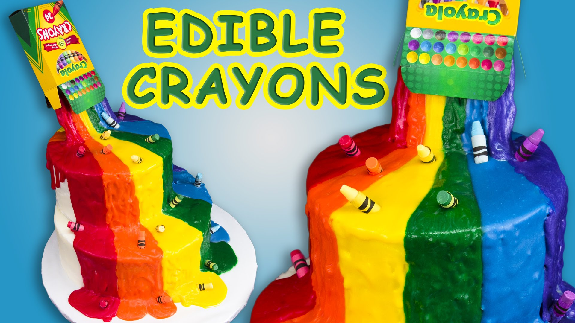 You Won't Believe What These Crayons Are Made of In This Crayon Waterfall Cake