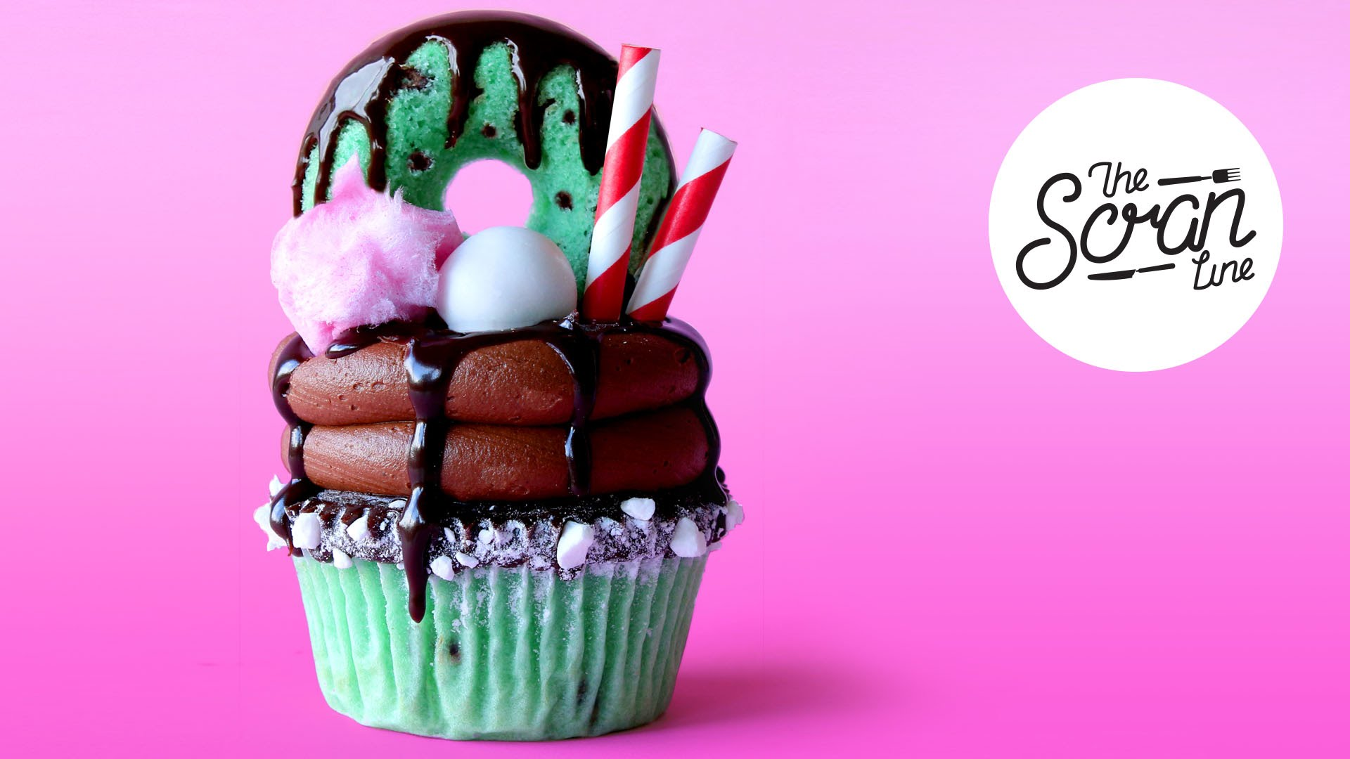 This Chocolate Mint Freakshake Cupcake Is Ridiculous