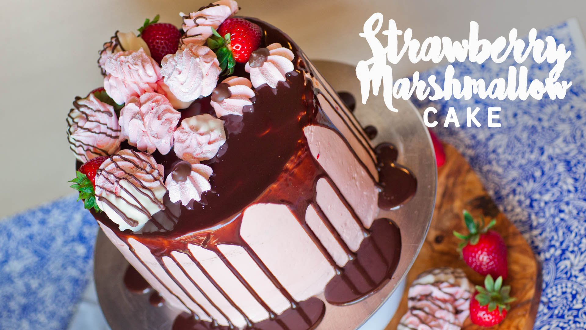 The Marshmallow In This Strawberry Cake Is One Of A Kind