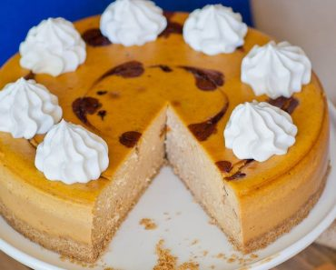A Pumpkin Caramel Cheesecake With A Unique Secret Ingredient