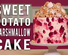 She Layers This Sweet Potato Cake With Marshmallows And Makes A Cake That Defies Gravity