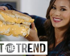 She Uses This Method And Creates A Supersize Grilled Cheese