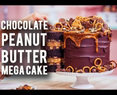 After Watching This Video, I Now Know Why This Is Called A MEGA Chocolate Peanut Butter Cake