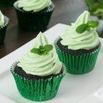 You Won't Believe What She Fills These Chocolate Mint Cupcakes With